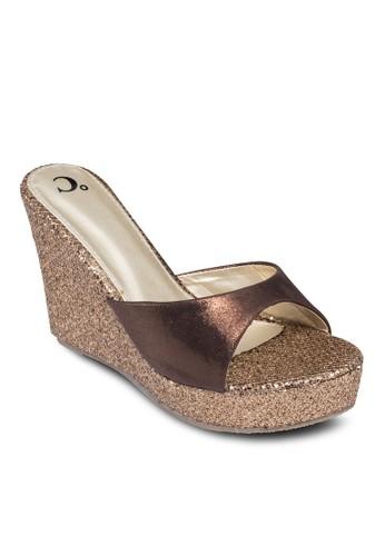 雙色閃esprit home 台灣飾厚底楔形鞋, 女鞋, 楔形鞋