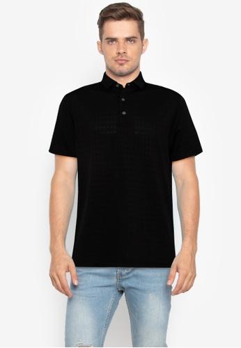 Jack Nicklaus black Black Label Mini Diamond Texture Polo Shirt DD3C4AA49BB4BFGS_1
