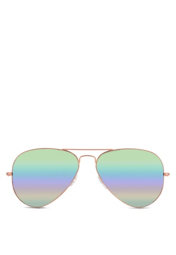 Ray-Ban brown Aviator Large Metal RB3025 Sunglasses RA896GL60ORRMY_1