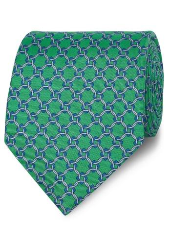 T.M. LEWIN green T.M.Lewin Green Geometric Circle Print Silk Tie 0CDF1AC7F88EC9GS_1