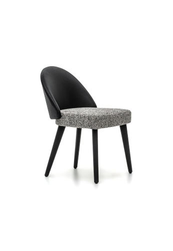 Chic Establishment black and grey Rome Dining Chair 48B3BHL5659C1AGS_1