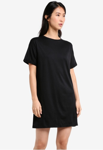 ZALORA black Essential T-Shirt Dress 211E9AAE16D616GS_1