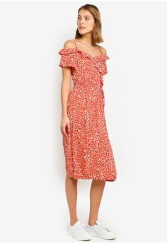 b6a76f860c4a1 Dorothy Perkins red Leopard Print Wrap Dress CCAAAAA236751DGS_1