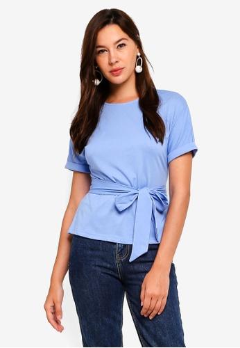 ZALORA blue Jersey Wrap Tee FDE77AA97B2950GS_1