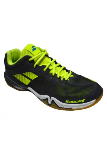 Babolat black and yellow Shadow Tour Badminton Shoes BA220SH42LVPPH_1