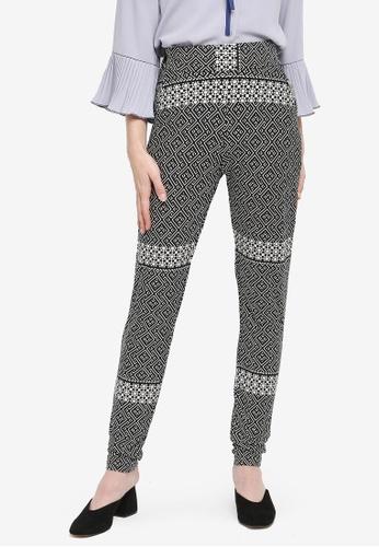Zariya black Palazzo Long Pants C43FDAA1E84ED8GS_1
