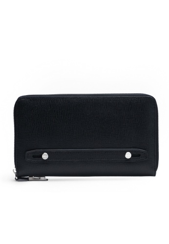 Faire Leather Co. black Specter CG Travel Wallet (Black) - Travel Leather Accessories 0B0EAACDAFC502GS_1