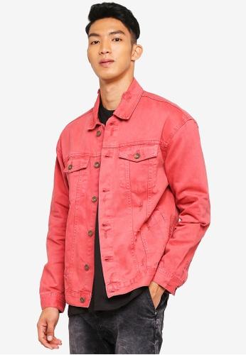 Cotton On 紅色 休閒牛仔外套 2B4ABAA176D87FGS_1