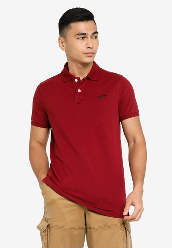 Hollister red Core Polo Shirts 172D4AAFB3A066GS_1