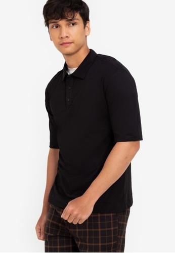ZALORA BASICS black Relax Fit Polo Shirt C72A2AAA78889FGS_1