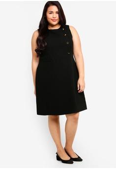 5d9eca3036a 43% OFF Dorothy Perkins Plus Size Black Button Pencil Dress S  69.90 NOW S   39.90 Sizes 18 20 22 24