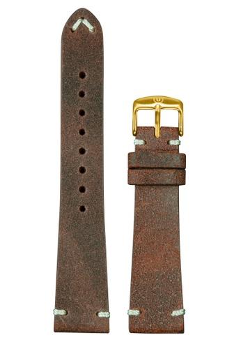 Undone brown Undone Vintage Brown Calf Leather Strap 20mm (Gold Buckle) UN712AC2VEJYHK_1