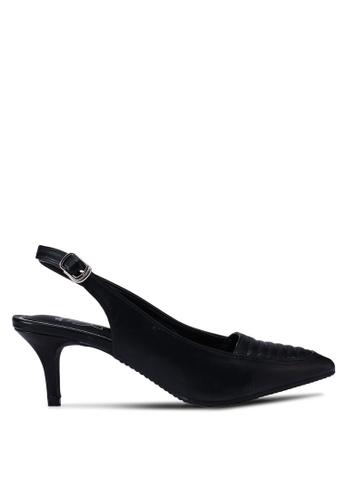 Bata black Sling Back Heels EB68BSH4FEEB7AGS_1