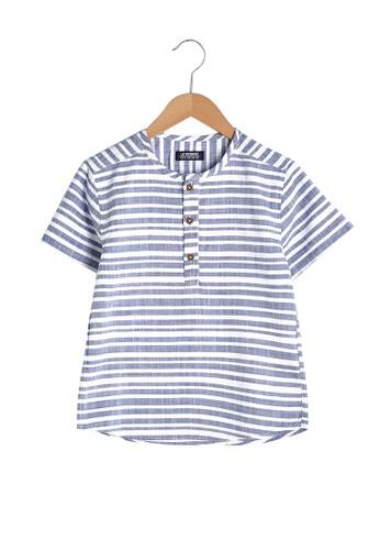 LC Waikiki navy Sleeve Boy's Shirt C2A29KA8DF3A71GS_1