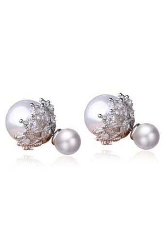 Vivere Rosse silver Ethereal Pearl Stud Earrings VI014AC44FADMY_1