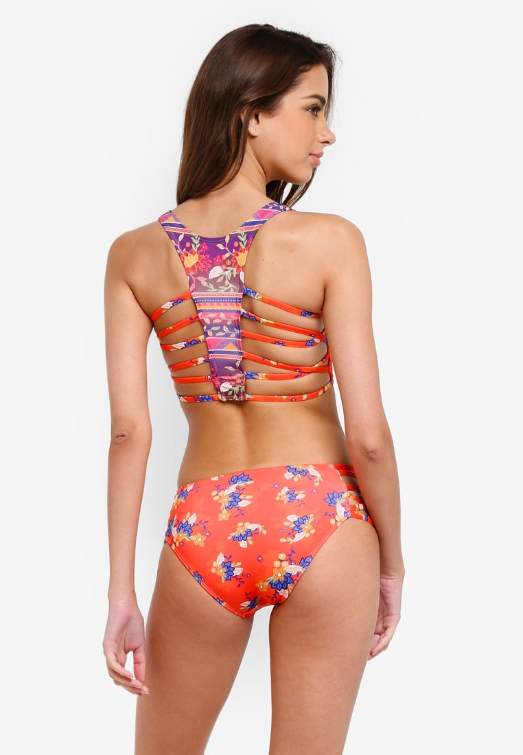 Waist Piha Multi Floral Batik Pants Bound High wIaRTqIH
