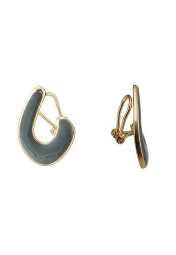 niko and ... grey Abstract Earrings B70EFACBB8E547GS_1
