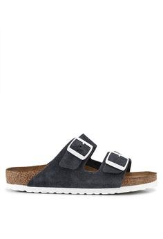 47d6612100f5 Birkenstock grey Arizona Suede Soft Footbed Sandals 9080ESH26A4EA4GS_1