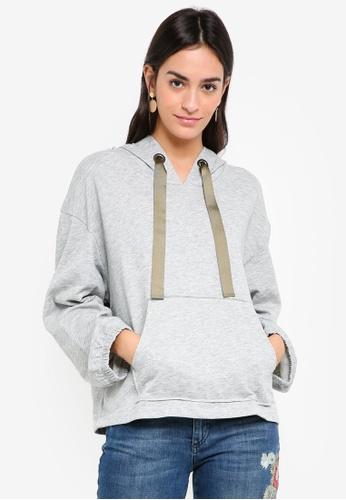 Sisley grey Pouch Pocket Sweatshirt B615DAAEE54346GS_1