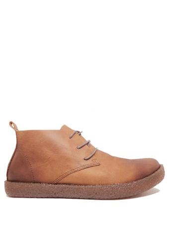 Twenty Eight Shoes brown Men's Leather Boots MC2258 5E487SH7143E74GS_1
