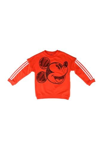 ADIDAS red lb dy mickey mouse crew sweatshirt F78CDKA8D18091GS_1