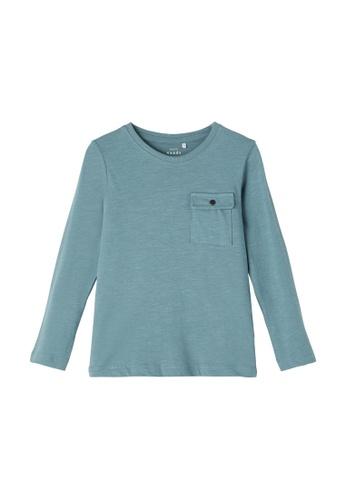 NAME IT blue Vebbe Long Sleeves Boxy Tee 7E689KA8252BE7GS_1