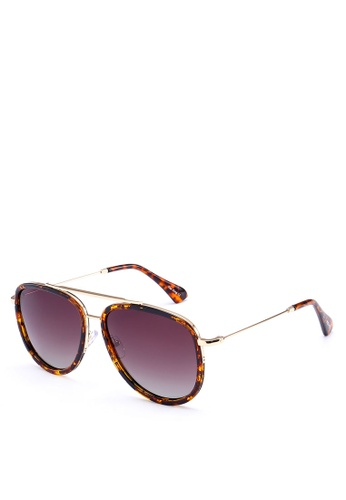Privé Revaux gold and brown The King Sunglasses PR660GL0RC4AMY_1