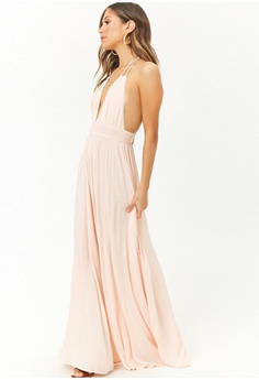 dea0f3d70701 FOREVER 21 Tasseled Halter Crinkled Maxi Dress S$ 49.90. Sizes M L XL