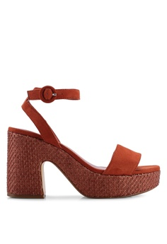 8d7e75db542 Mango orange Platform Ankle-Cuff Heels 608CFSH4A8AE1FGS 1