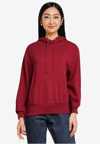 GAP red Fleece Hoodie 1FE95AAD6654EAGS_1