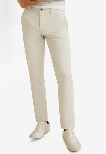 MANGO Man 灰色 Slim-Fit Chinos Trousers 45F04AA94C1D8EGS_1