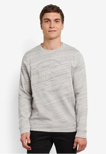 Jack & Jones grey and silver Jorsports Sweatshirt JA987AA0S4JPMY_1