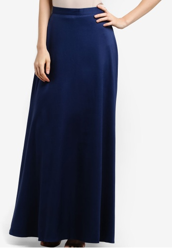 Soonaru navy Flare Skirt SO016AA14PCZMY_1
