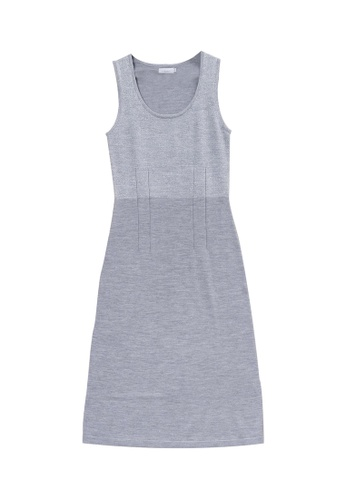 KLAPS grey Cami Dress 9A70DAA2136F76GS_1