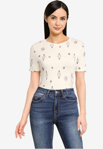 Desigual white Giupessa T-Shirt 2C573AA26EBC98GS_1