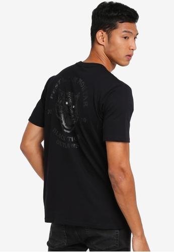 Pestle & Mortar 黑色 休閒印花T恤 A772AAAAD74AE4GS_1