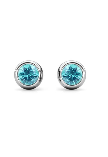 Her Jewellery blue and silver Birth Stone Moon Earring December Blue Topaz WG - Anting Crystal Swarovski by Her Jewellery D80C9AC9B98630GS_1