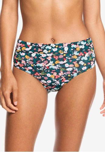 Roxy black Printed Beach Classics Mid Waist Bikini Bottom 9387CAA2BCB6C8GS_1