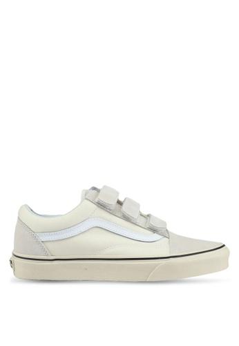 VANS white Old Skool V Sneakers VA142SH0SWW3MY_1