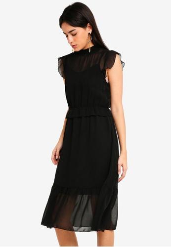 Vero Moda black Becca Sleeveless Dress 2E40FAA023FE86GS_1