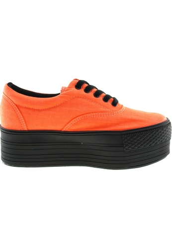 Maxstar orange Maxstar Women's C50 5 Holes Platform Canvas Low Top Sneakers US Women Size MA164SH54PSFSG_1