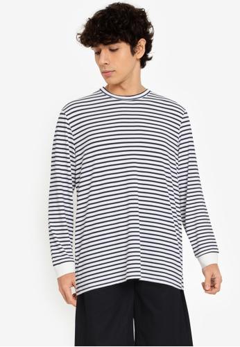 ZALORA BASICS multi Striped Long-Sleeve T-Shirt 57A71AA0B7ACF6GS_1