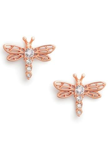 Olivia Burton gold Olivia Burton Dancing Dragonfly Rose Gold Women's Earrings (OBJAME146) A666BACA3A04DDGS_1