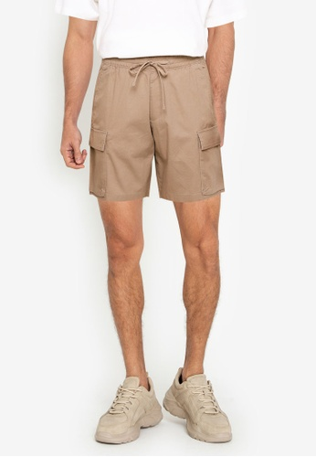 Abercrombie & Fitch beige Utility Pull On Shorts 72967AA5F2659BGS_1