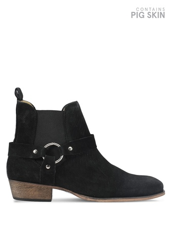 Topman black Int South Harness Boots TO413SH0T1J8MY_1