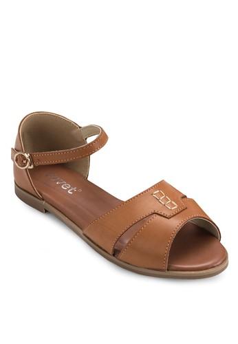 露趾包跟平底涼鞋, 女鞋esprit hk, 涼鞋