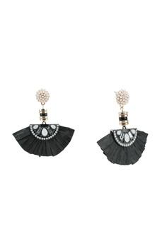 4ca77bf50 River Island black Pearl Raffia Drop Earrings C6A77AC4FF80ACGS_1