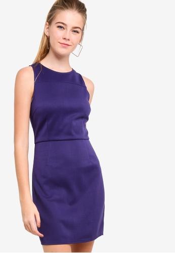 Something Borrowed 藍色 Scuba Bodycon Dress BC742AAEDA23D2GS_1