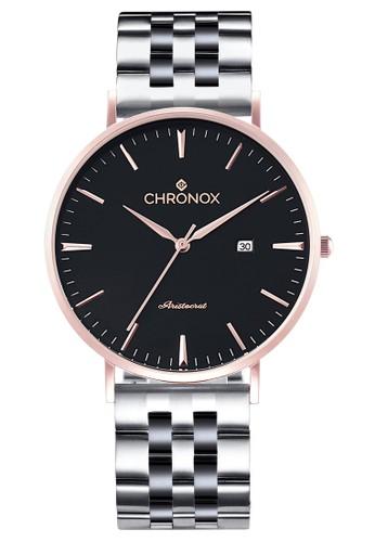 CHRONOX silver Chronox CX1002/C2 - Jam Tangan Wanita Casual - Tali Stainless Steel Silver - Hitam Rose Gold 7FB5EACAF60B0CGS_1