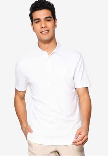 Banana Republic white Performance Lux Tape Polo Shirt 49CEEAAAC9581BGS_1